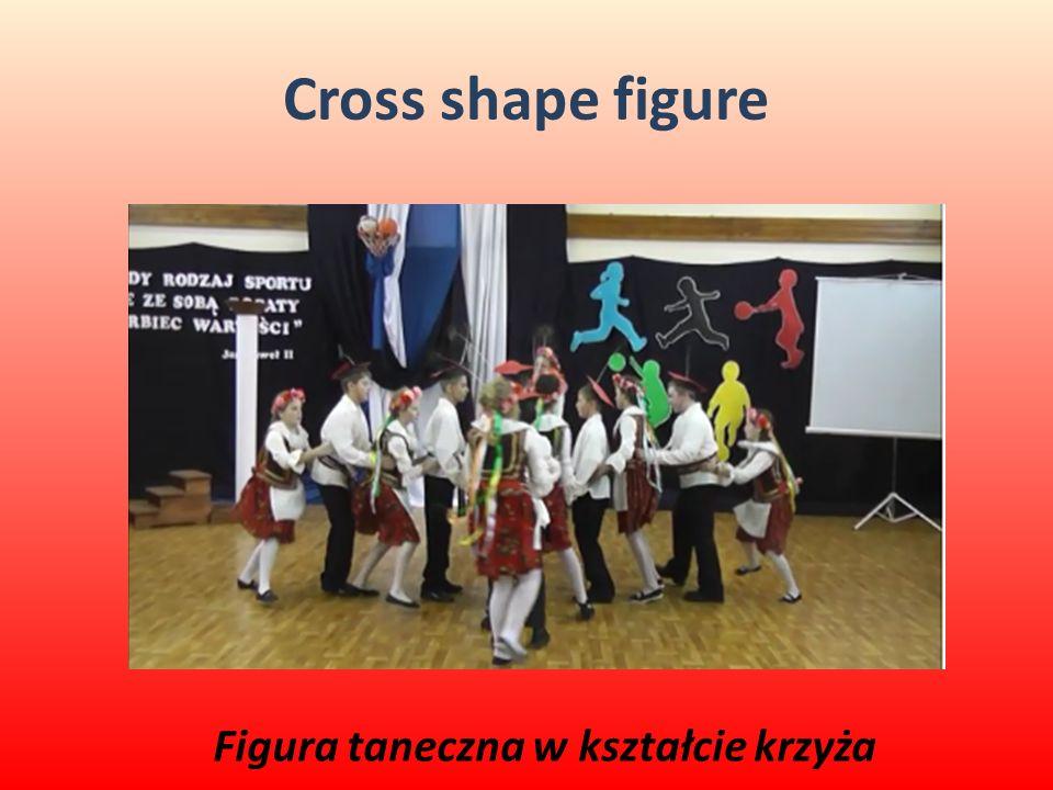 Cross shape figure Figura taneczna w kształcie krzyża