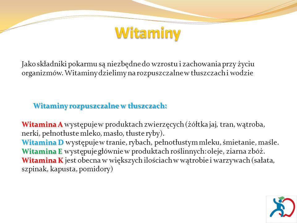 Witaminy rozpuszczalne w wodzie: Witamina C Witamina C jest niezbędna do wytwarzania ciał odpornościowych organizmu.
