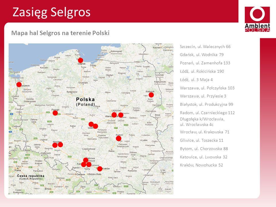 Szczecin, ul. Walecznych 66 Gdańsk, ul. Wodnika 79 Poznań, ul. Zamenhofa 133 Łódź, ul. Rokicińska 190 Łódź, ul. 3 Maja 4 Warszawa, ul. Połczyńska 103