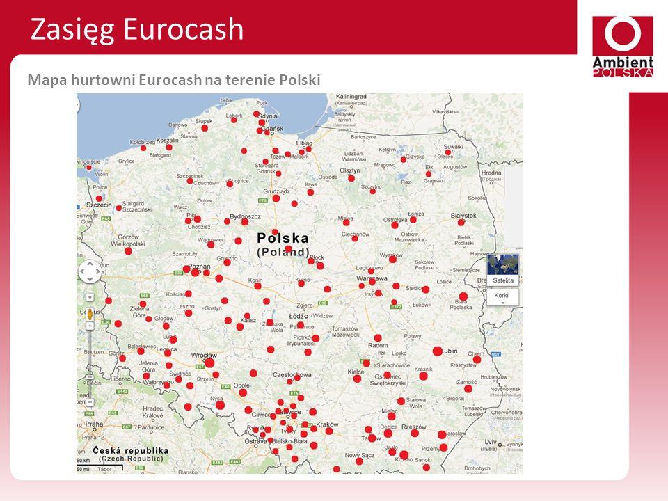 Mapa hurtowni Eurocash na terenie Polski Zasięg Eurocash