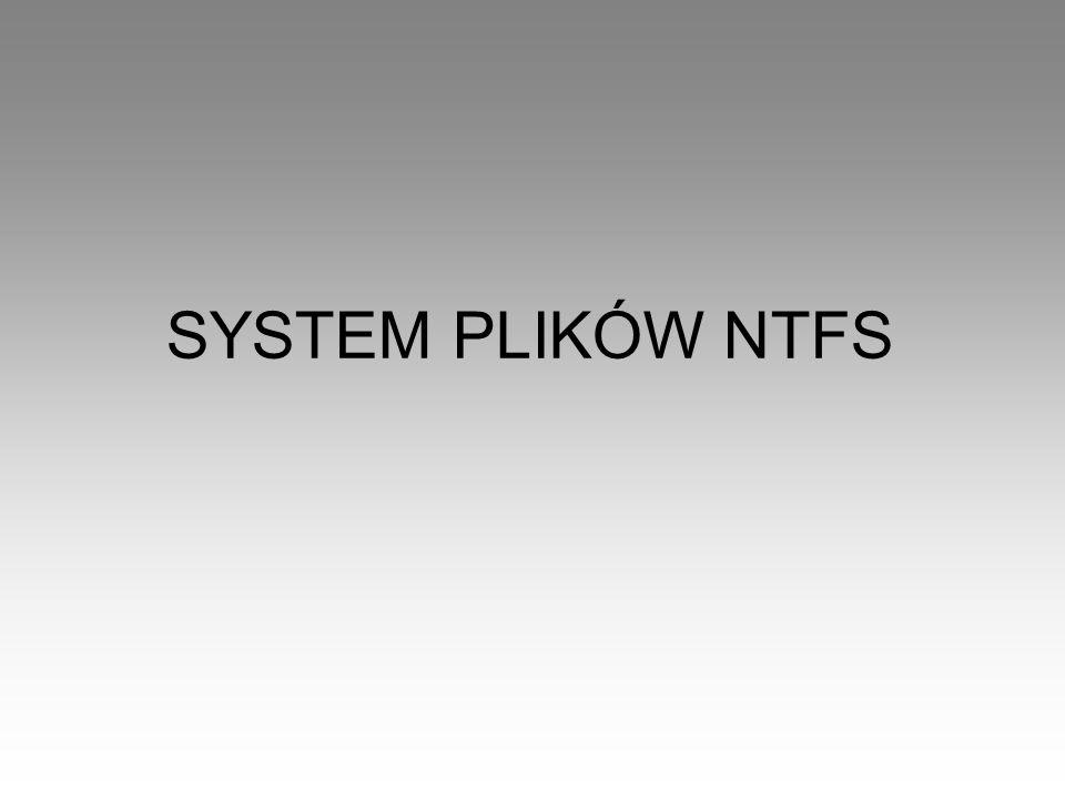 SYSTEM PLIKÓW NTFS