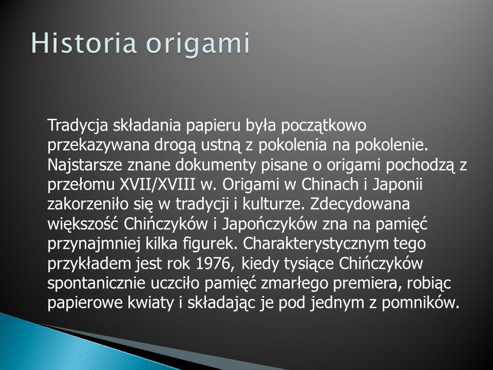 W Europie origami pojawiło się najpierw w Hiszpanii.
