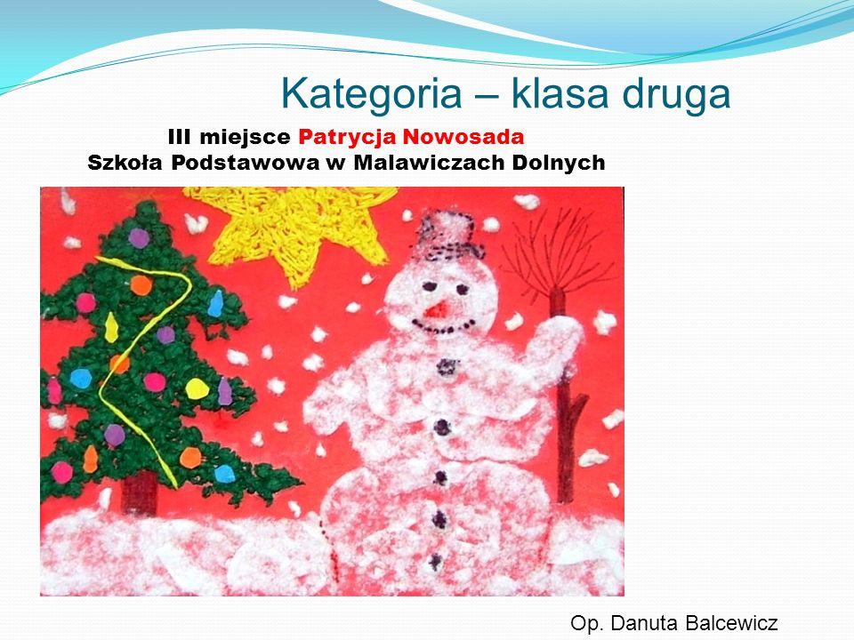 Kategoria – klasa druga III miejsce Patrycja Nowosada Szkoła Podstawowa w Malawiczach Dolnych Op. Danuta Balcewicz