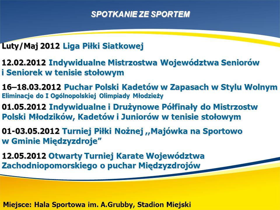 SPOTKANIE ZE SPORTEM Miejsce: Międzynarodowy Dom Kultury, Hala Sportowa im.
