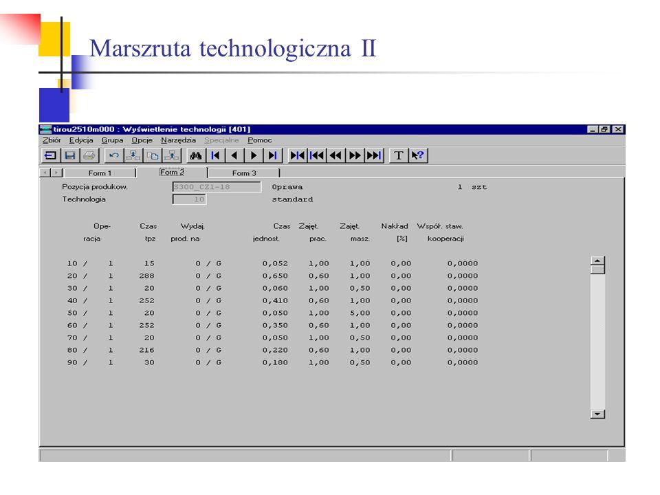Marszruta technologiczna II