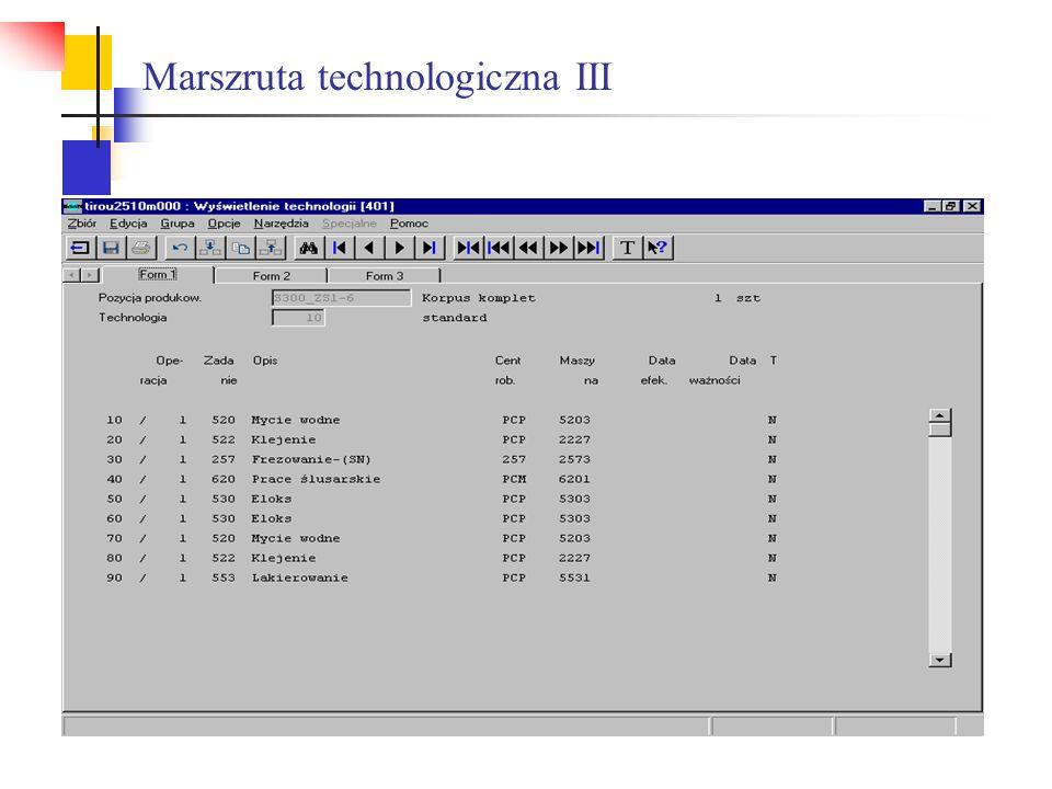 Marszruta technologiczna III