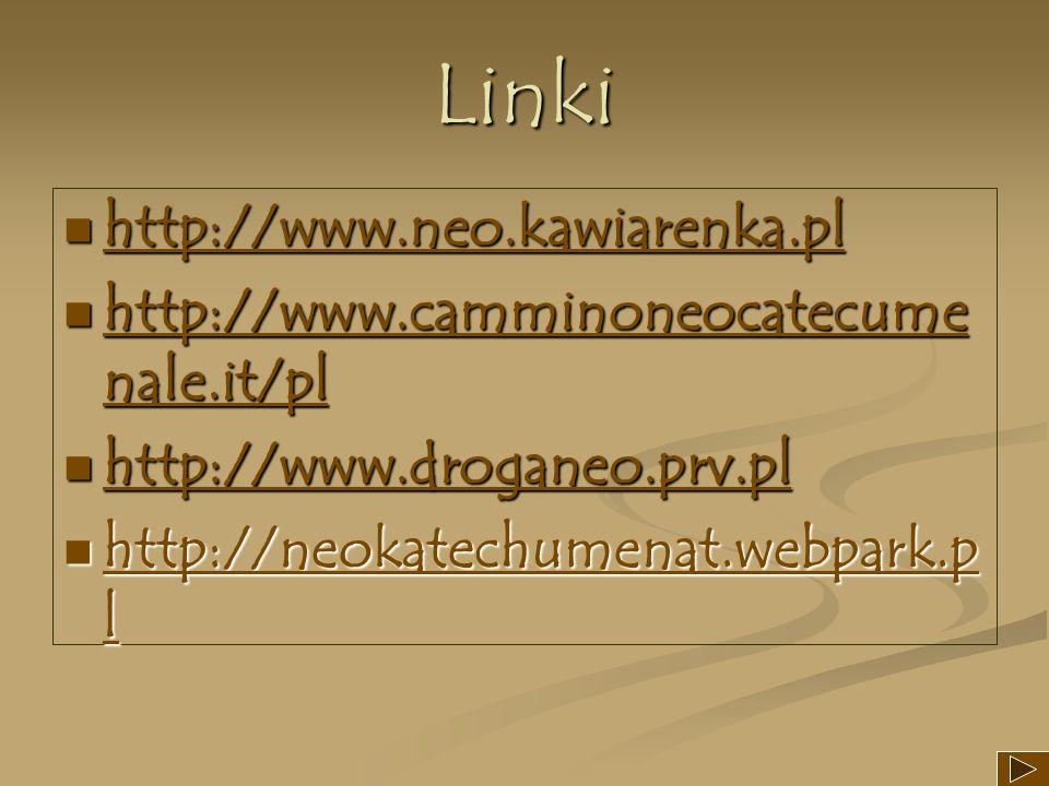 Linki http://www.neo.kawiarenka.pl http://www.neo.kawiarenka.pl http://www.neo.kawiarenka.pl http://www.camminoneocatecume nale.it/pl http://www.cammi