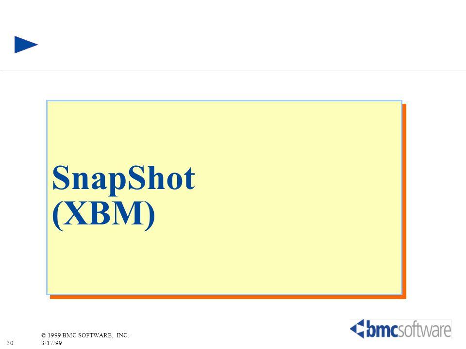 30 © 1999 BMC SOFTWARE, INC. 3/17/99 SnapShot (XBM)