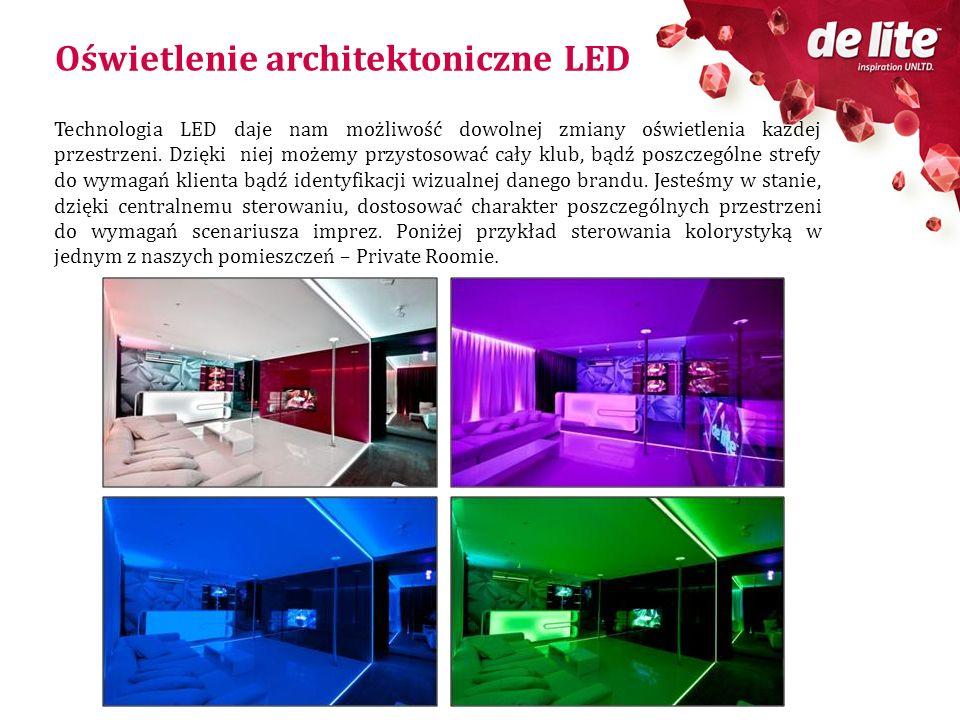 Oświetlenie architektoniczne LED Technologia LED daje nam możliwość dowolnej zmiany oświetlenia każdej przestrzeni. Dzięki niej możemy przystosować ca