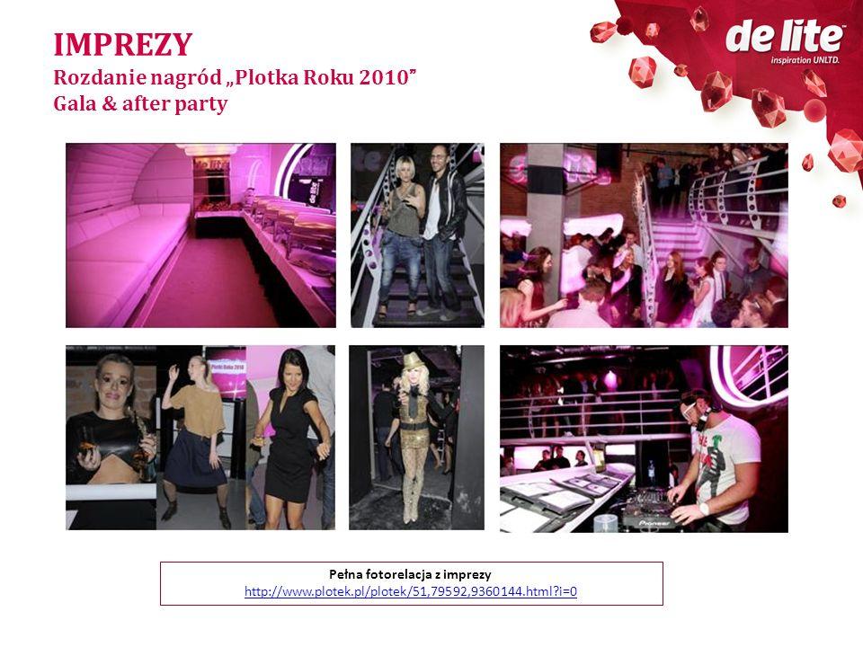 IMPREZY Rozdanie nagród Plotka Roku 2010 Gala & after party Pełna fotorelacja z imprezy http://www.plotek.pl/plotek/51,79592,9360144.html?i=0