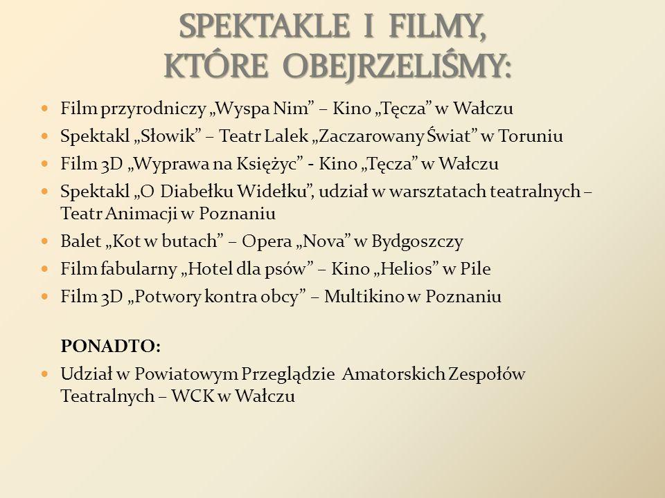 Film przyrodniczy Wyspa Nim – Kino Tęcza w Wałczu Spektakl Słowik – Teatr Lalek Zaczarowany Świat w Toruniu Film 3D Wyprawa na Księżyc - Kino Tęcza w