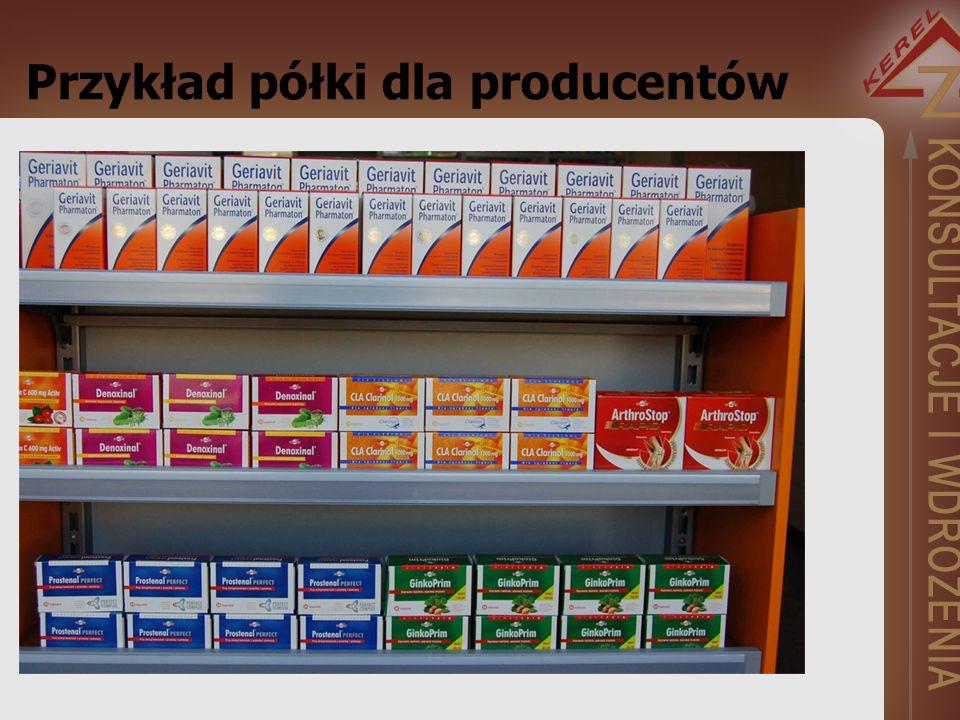 Przykład półki dla producentów