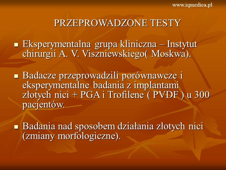Eksperymentalna grupa kliniczna – Instytut chirurgii A. V. Viszniewskiego( Moskwa). Eksperymentalna grupa kliniczna – Instytut chirurgii A. V. Visznie