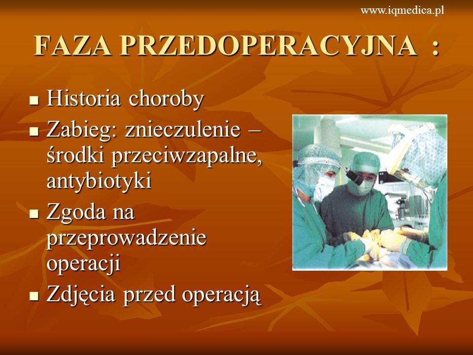 Historia choroby Historia choroby Zabieg: znieczulenie – środki przeciwzapalne, antybiotyki Zabieg: znieczulenie – środki przeciwzapalne, antybiotyki