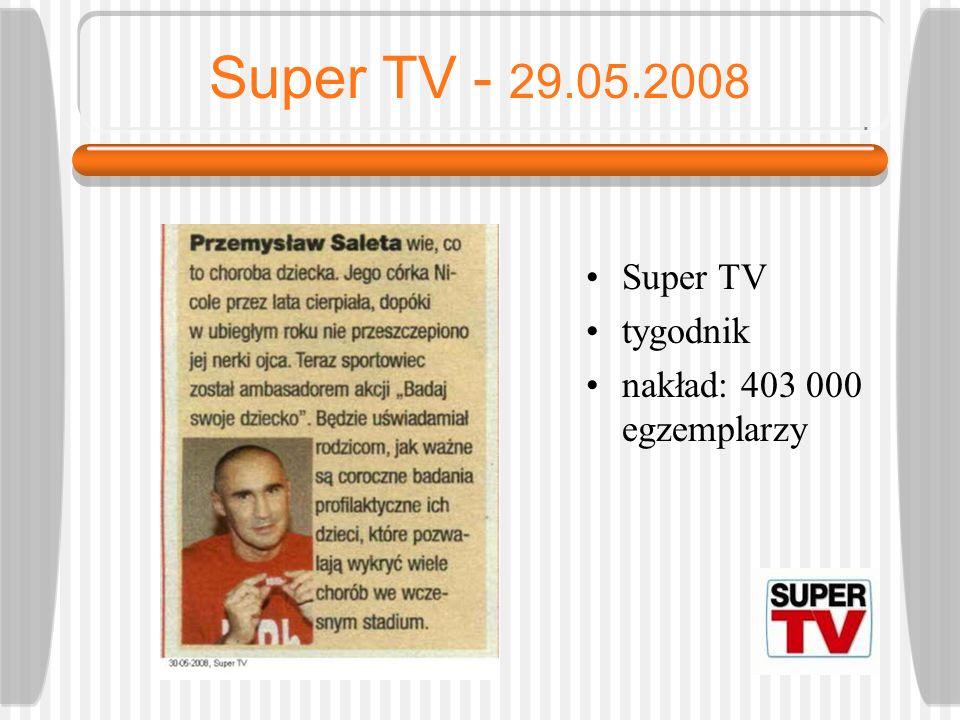 Tele Tydzień - 26.05.2008 Tele Tydzień tygodnik nakład 1 540 000 egzemplarzy