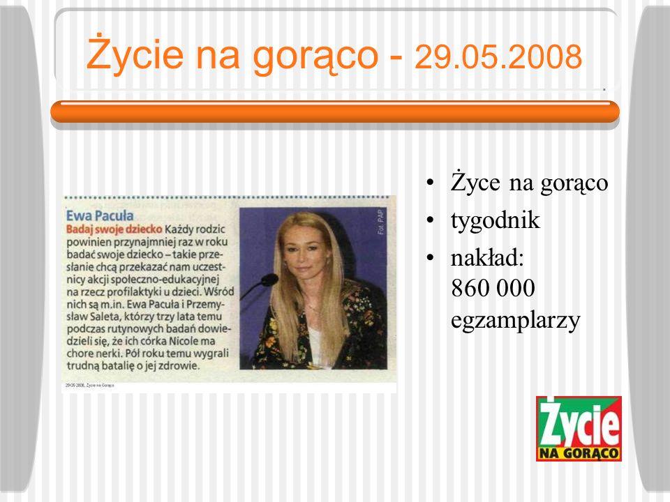 Super TV - 29.05.2008 Super TV tygodnik nakład: 403 000 egzemplarzy