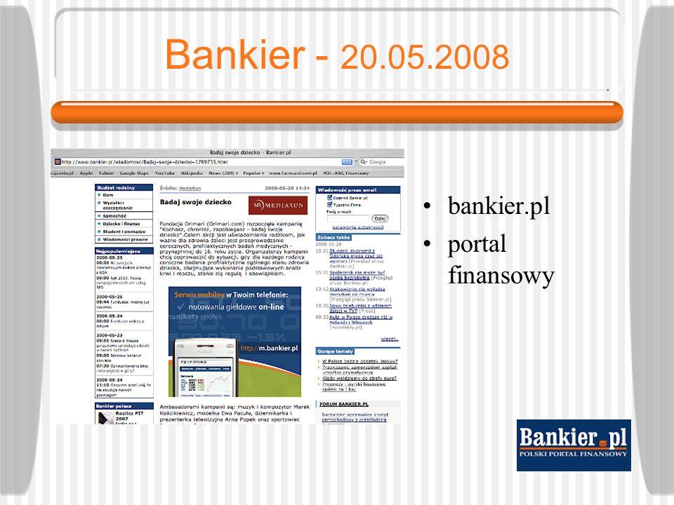 Eurobankier - 20.05.2008 euro.bankier.pl portal ekonomiczny