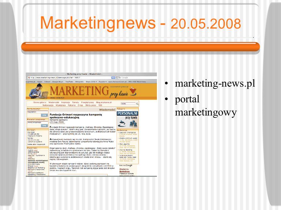 Wirtualna Polska - 20.05.2008 wp.pl portal internetowy