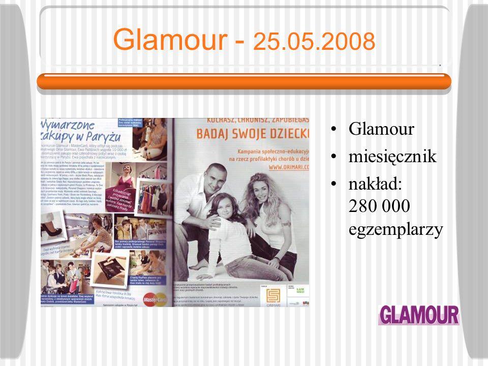 Viva! - 12.06.2008 Viva! dwutygodnik nakład - 340 000 egzemplarzy