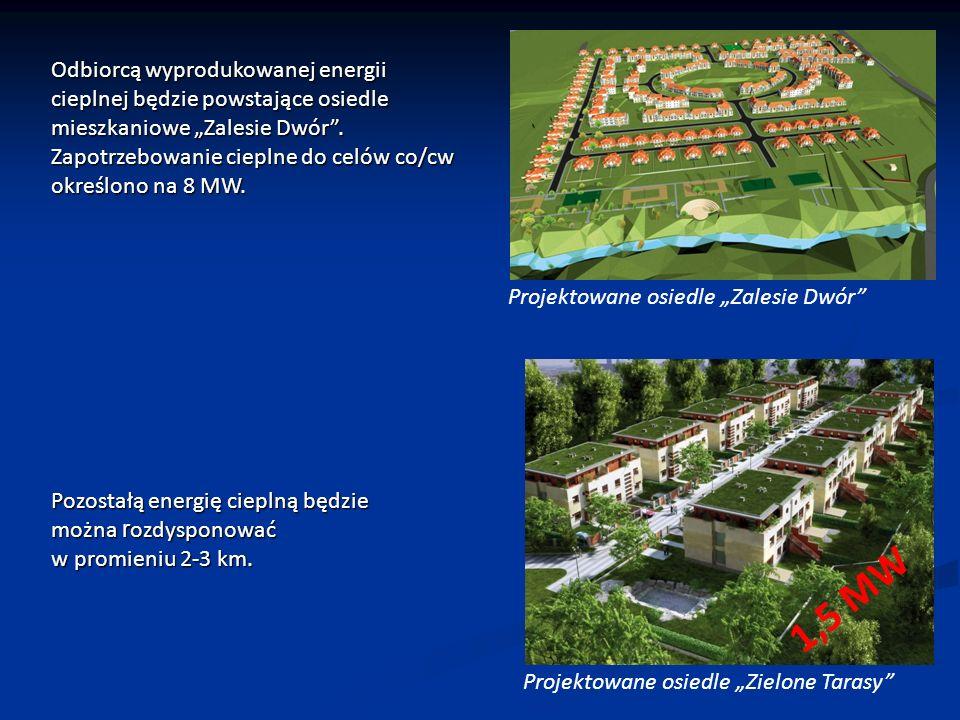 Projektowane osiedle Zalesie Dwór Odbiorcą wyprodukowanej energii cieplnej będzie powstające osiedle mieszkaniowe Zalesie Dwór.