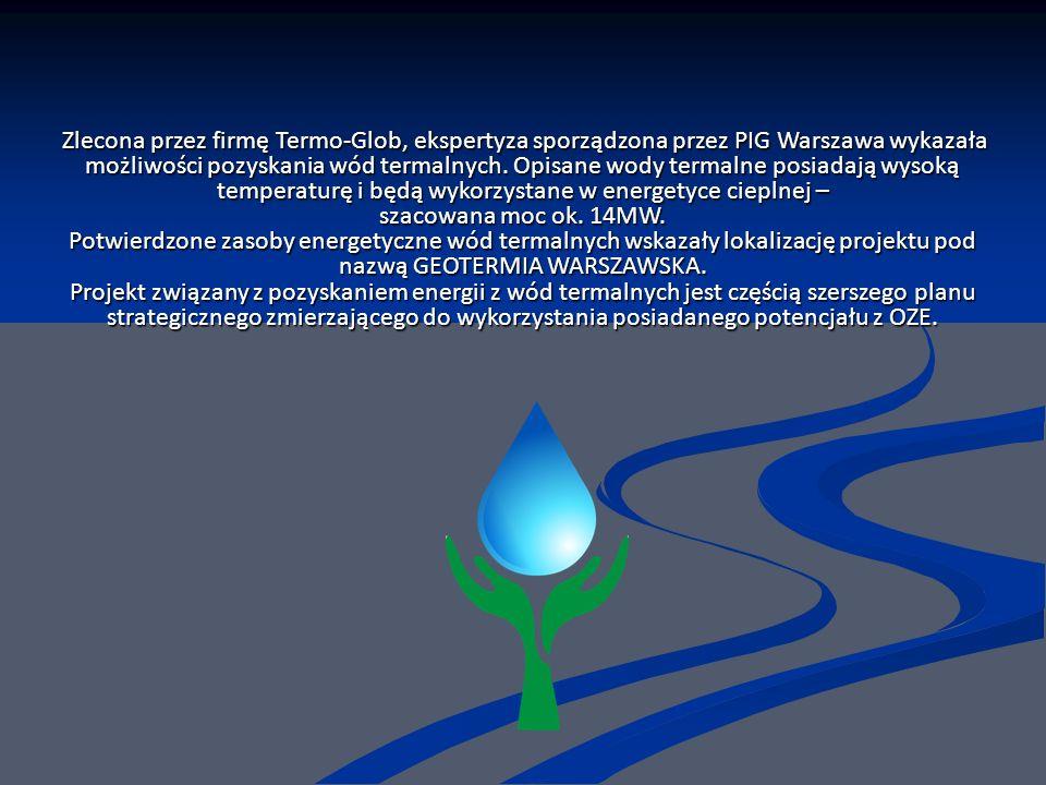 Zlecona przez firmę Termo-Glob, ekspertyza sporządzona przez PIG Warszawa wykazała możliwości pozyskania wód termalnych.