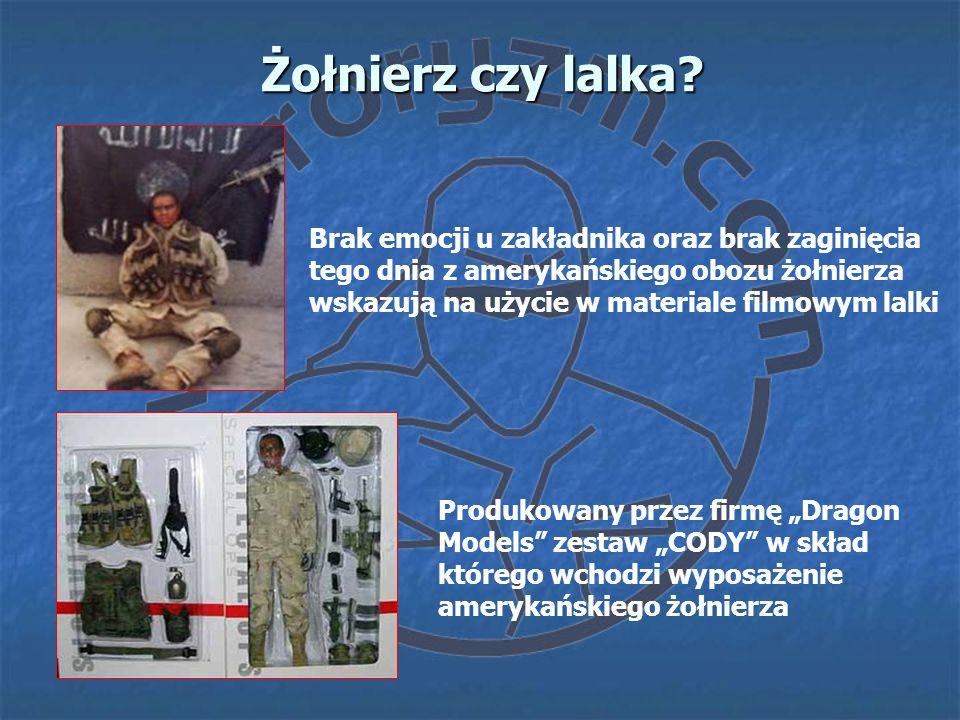 Żołnierz czy lalka? Produkowany przez firmę Dragon Models zestaw CODY w skład którego wchodzi wyposażenie amerykańskiego żołnierza Brak emocji u zakła
