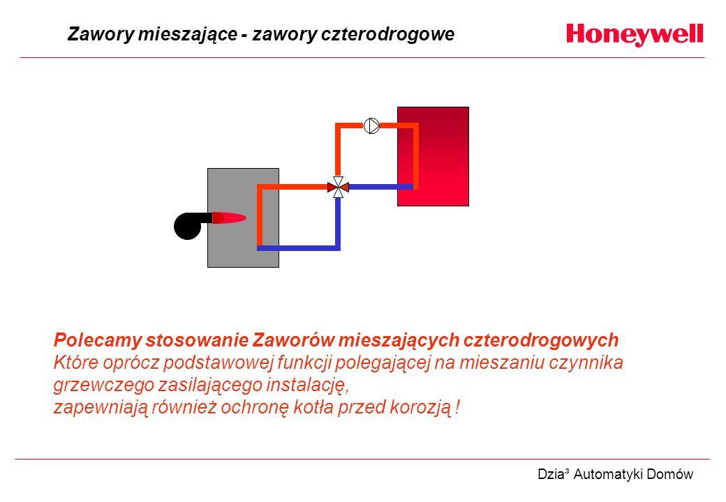 Zawory mieszające - zawory czterodrogowe Polecamy stosowanie Zaworów mieszających czterodrogowych Które oprócz podstawowej funkcji polegającej na mies