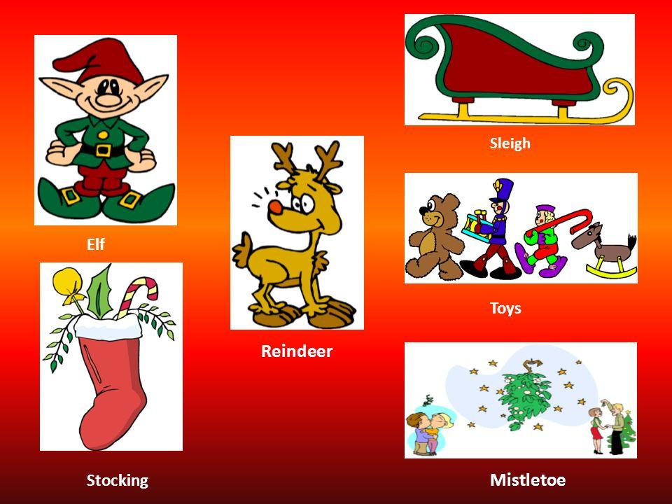 Sleigh Elf Toys Reindeer Stocking Mistletoe