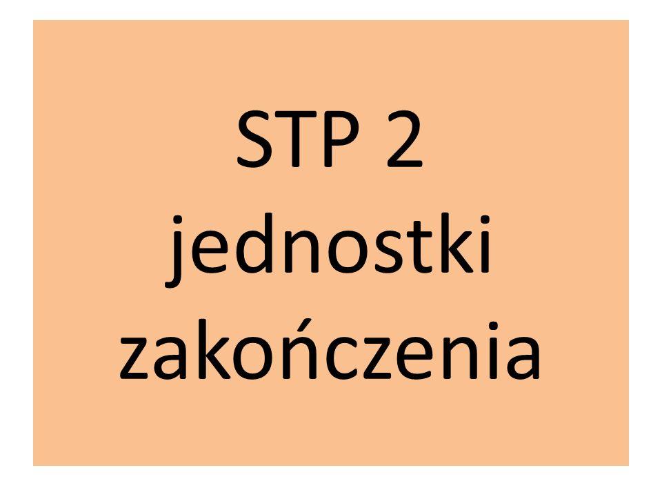 STP 2 jednostki zakończenia