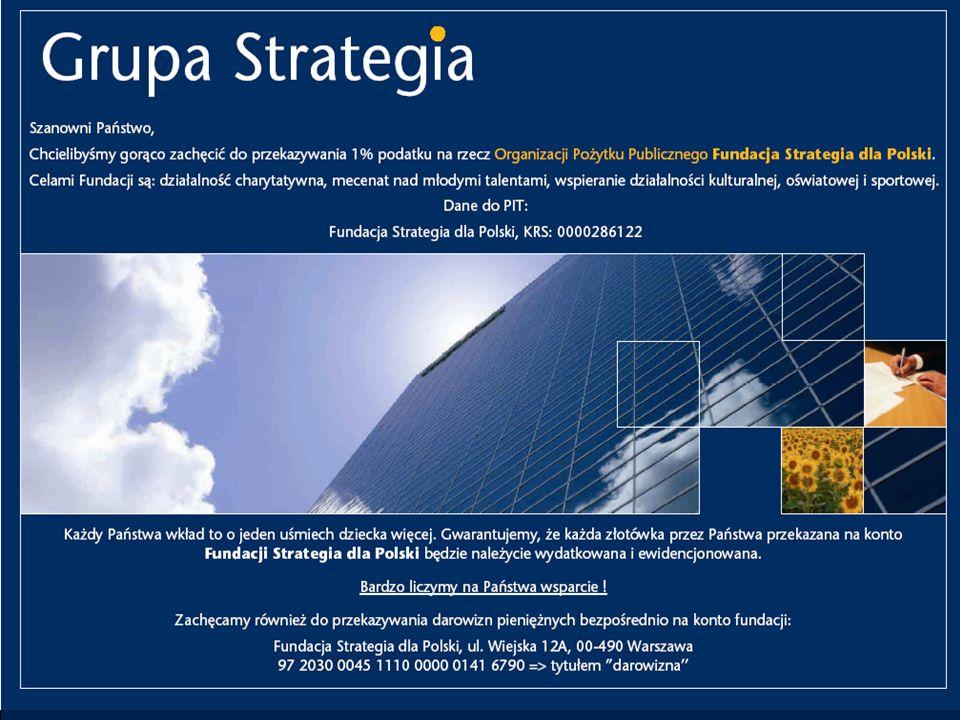 Szanowni Państwo, chcielibyśmy gorąco zachęcić do włączenia się w budowanie wspólnego dzieła jakim jest Fundacja Strategia dla Polski, która działa w ramach Grupy Strategia.