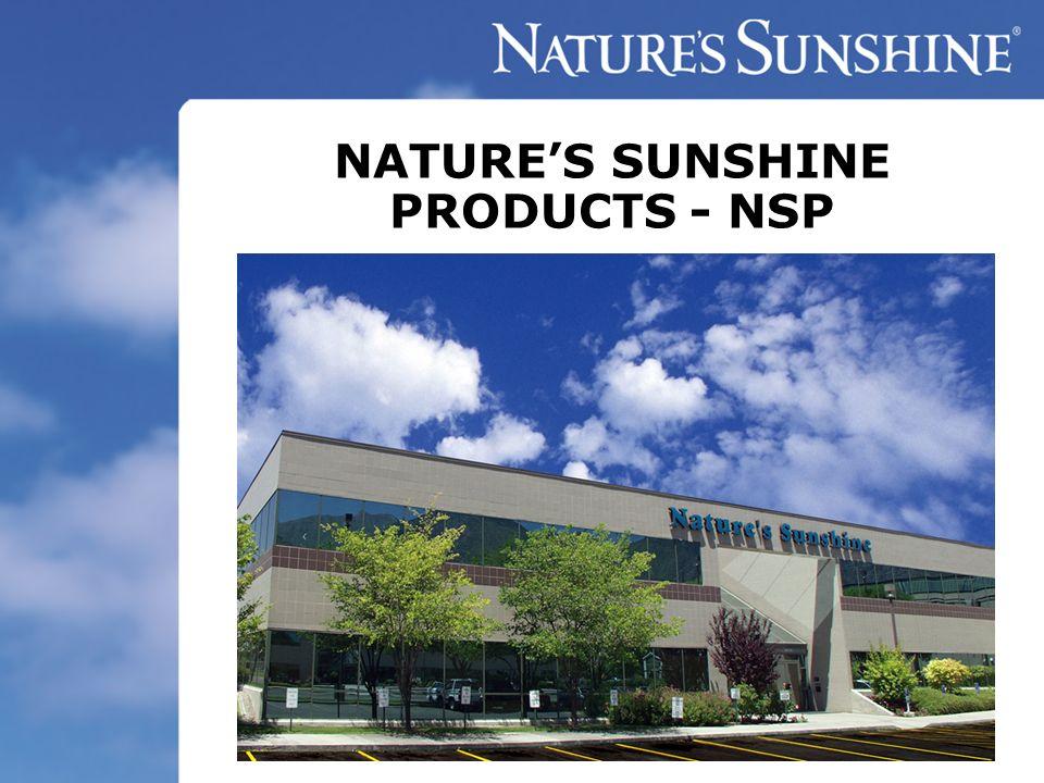 NATURES SUNSHINE PRODUCTS - NSP