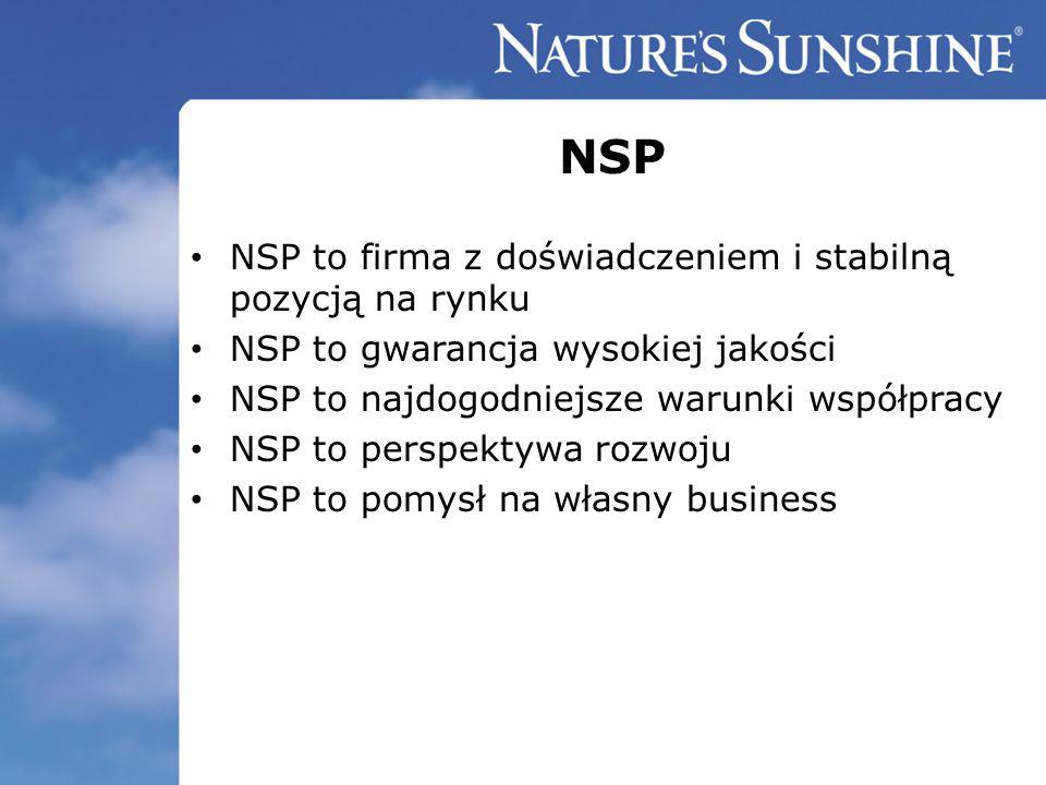 NSP NSP to firma z doświadczeniem i stabilną pozycją na rynku NSP to gwarancja wysokiej jakości NSP to najdogodniejsze warunki współpracy NSP to persp