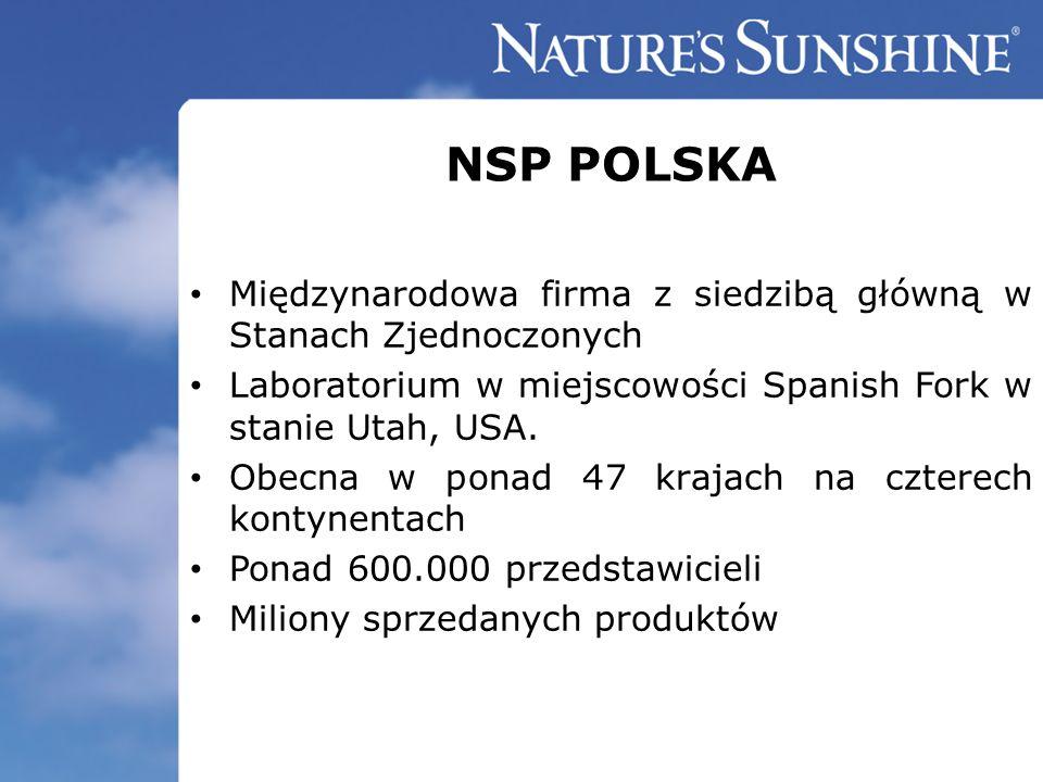 NSP POLSKA Międzynarodowa firma z siedzibą główną w Stanach Zjednoczonych Laboratorium w miejscowości Spanish Fork w stanie Utah, USA. Obecna w ponad