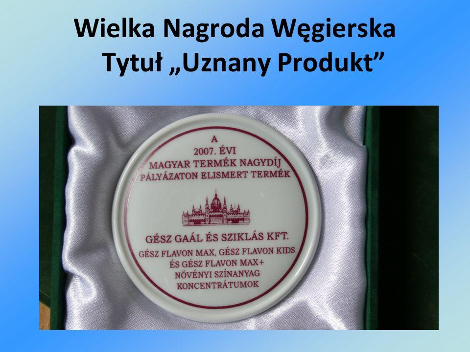 Wielka Nagroda Węgierska Tytuł Uznany Produkt