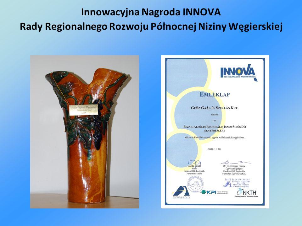 Innowacyjna Nagroda INNOVA Rady Regionalnego Rozwoju Północnej Niziny Węgierskiej