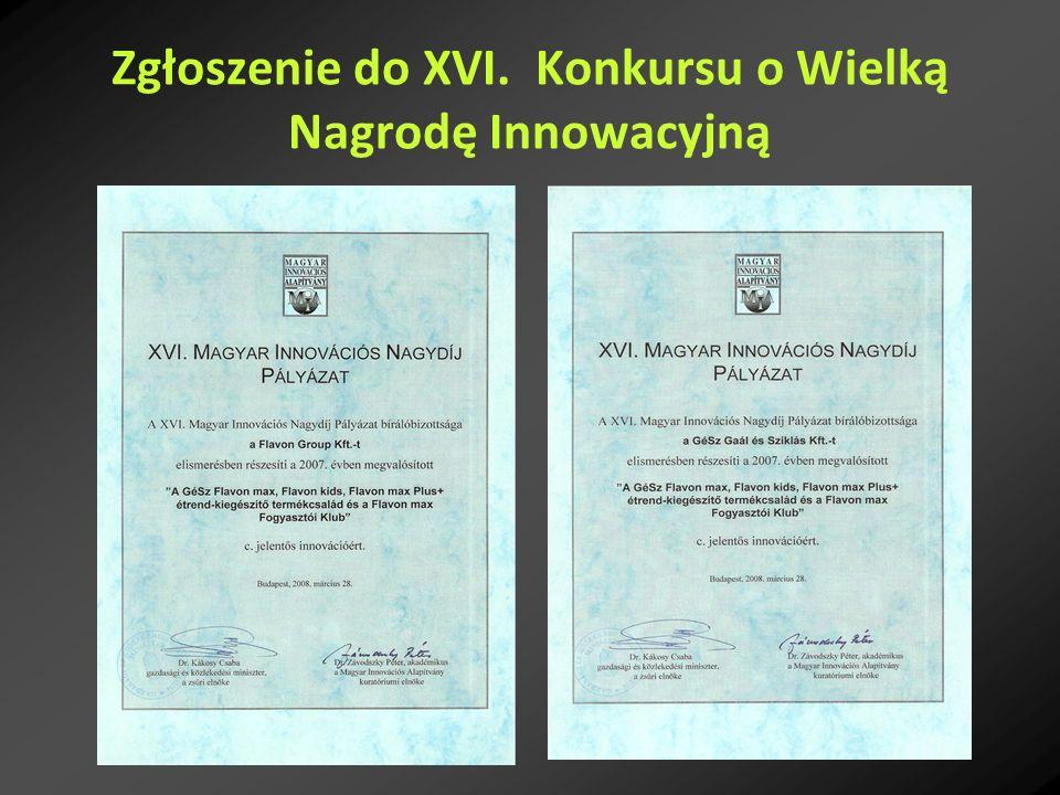 Zgłoszenie do XVI. Konkursu o Wielką Nagrodę Innowacyjną
