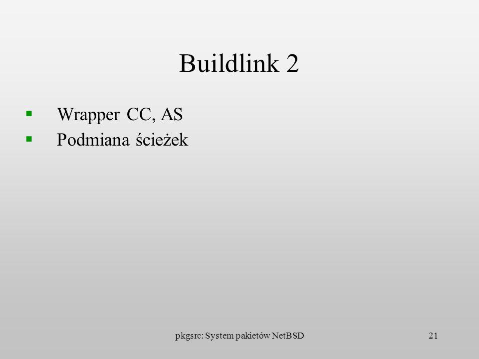 pkgsrc: System pakietów NetBSD21 Buildlink 2 Wrapper CC, AS Podmiana ścieżek