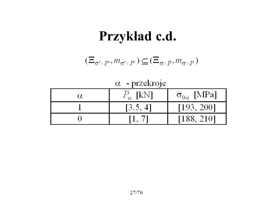 27/76 Przykład c.d.
