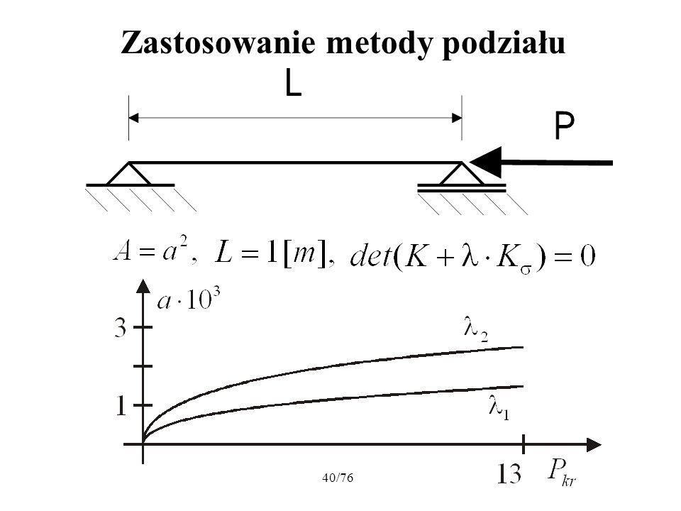 40/76 Zastosowanie metody podziału