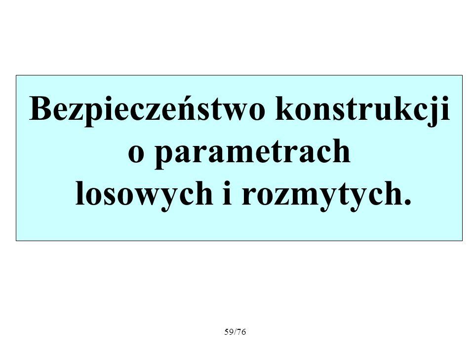 59/76 Bezpieczeństwo konstrukcji o parametrach losowych i rozmytych.