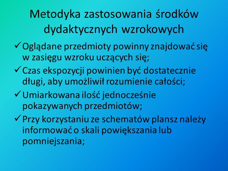 Audiowizualne środki dydaktyczne cd. 4) Zapewniać przejście od spraw konkretnych do abstrakcyjnych i na odwrót; 5) Eksponować powiązanie teorii z prak