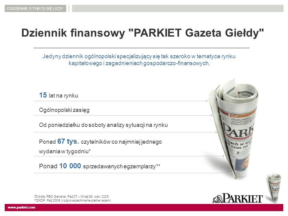 www.parkiet.com Dziennik finansowy