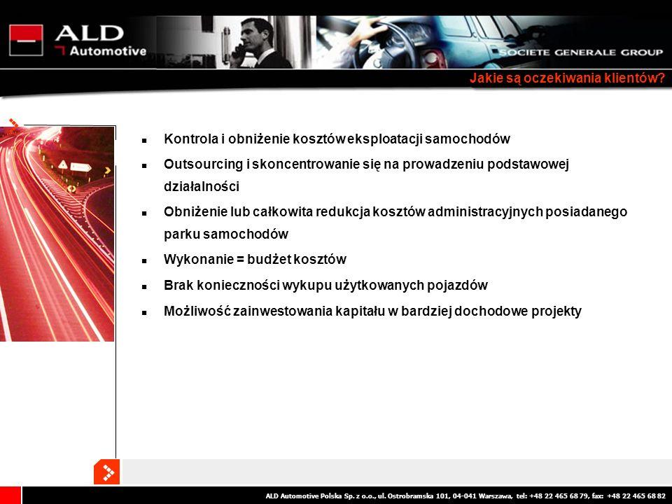 ALD Automotive Polska Sp. z o.o., ul. Ostrobramska 101, 04-041 Warszawa, tel: +48 22 465 68 79, fax: +48 22 465 68 82 Jakie są oczekiwania klientów? K