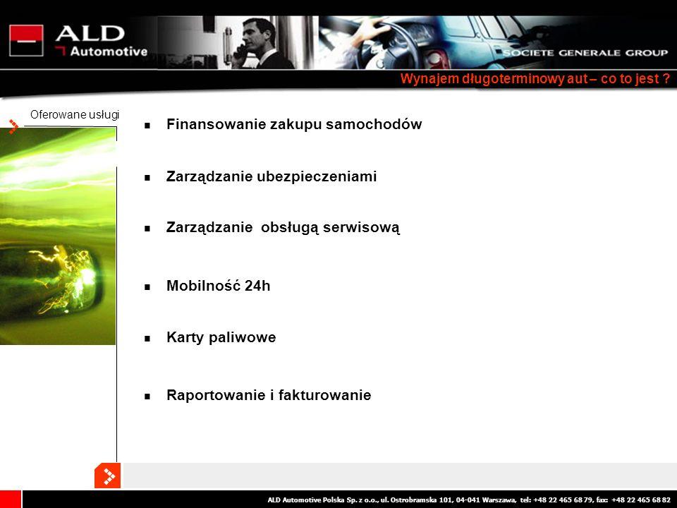 ALD Automotive Polska Sp. z o.o., ul. Ostrobramska 101, 04-041 Warszawa, tel: +48 22 465 68 79, fax: +48 22 465 68 82 Wynajem długoterminowy aut – co