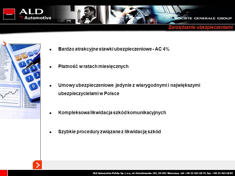 ALD Automotive Polska Sp. z o.o., ul. Ostrobramska 101, 04-041 Warszawa, tel: +48 22 465 68 79, fax: +48 22 465 68 82 Zarządzanie ubezpieczeniami Bard