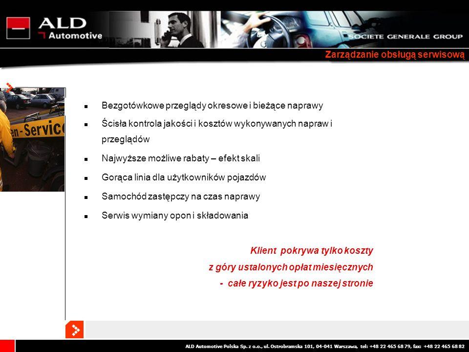 ALD Automotive Polska Sp. z o.o., ul. Ostrobramska 101, 04-041 Warszawa, tel: +48 22 465 68 79, fax: +48 22 465 68 82 Zarządzanie obsługą serwisową Be