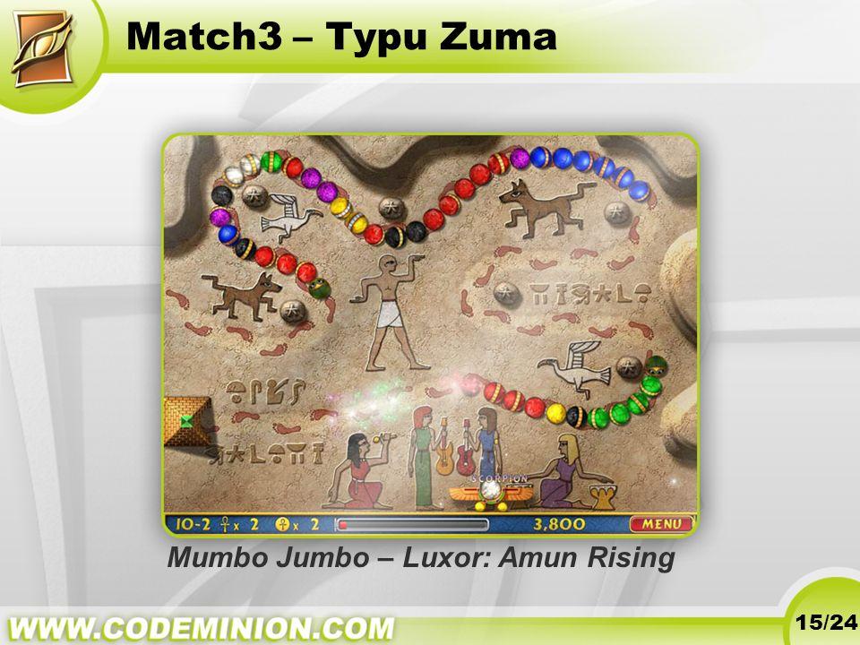 Match3 – Typu Zuma 15/24 Mumbo Jumbo – Luxor: Amun Rising