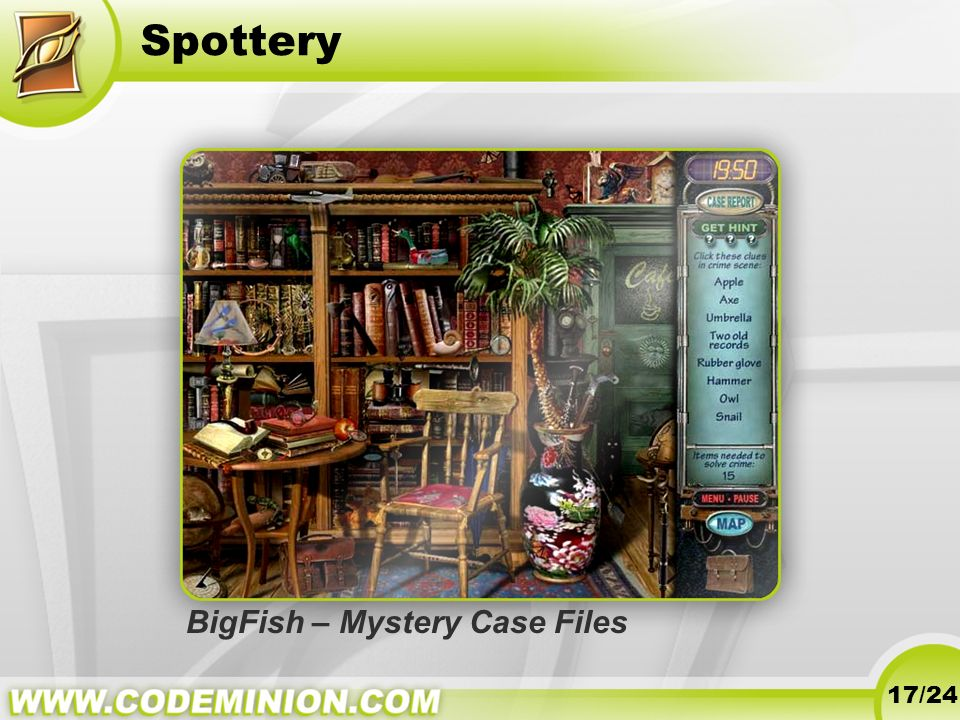 Spottery 17/24 BigFish – Mystery Case Files