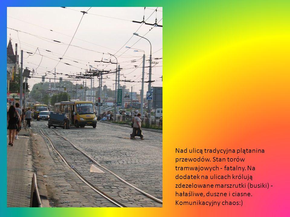 Lwowska ulica pokryta jest brukiem z czasów polskich, od tego czasu nieremontowanym. Co ciekawe tory tramwajowe często biegną skrajem ulicy, a samocho
