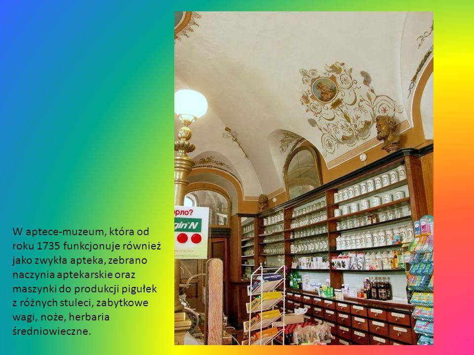 Apteka-Muzeum, ul. Stawropihijska 1 - najstarsza z istniejących aptek Lwowa, przekształcona na jedyne na Ukrainie muzeum, w którym można oglądać zabyt